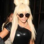 Lady GaGa leaving Radio 1, London, Britain