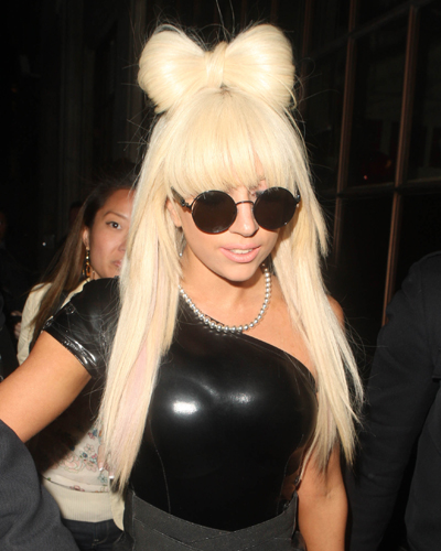 Lady GaGa leaving Radio 1, London, Britain