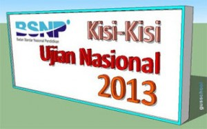Kisi-Kisi UN 2013