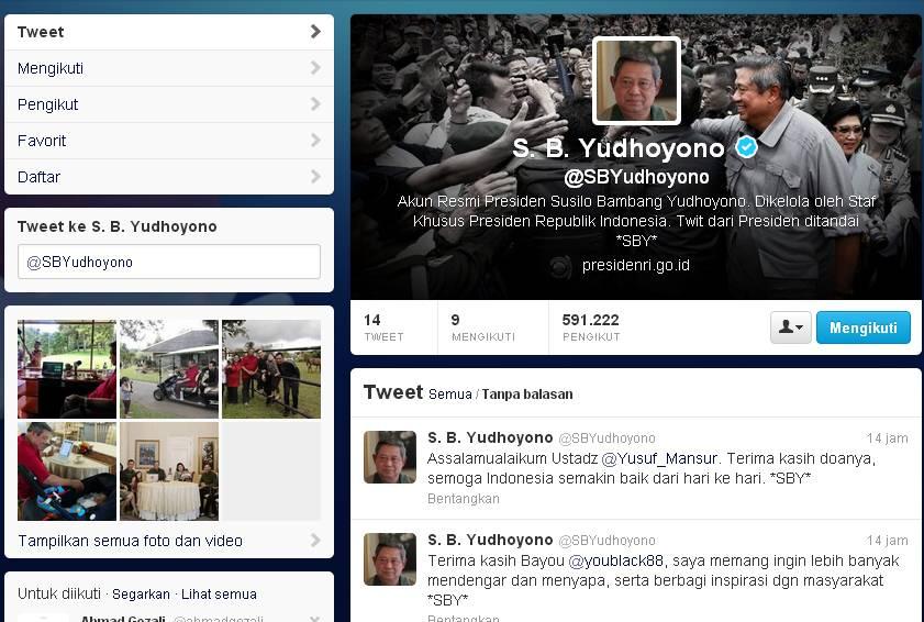 akun twitter SBY