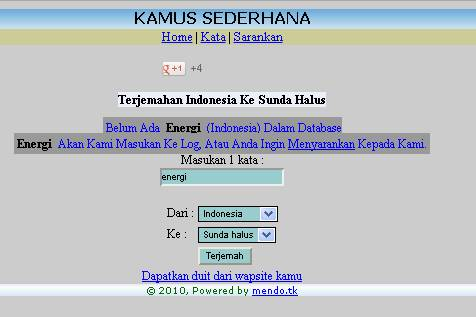kamus aplikasi online sunda dan jawa