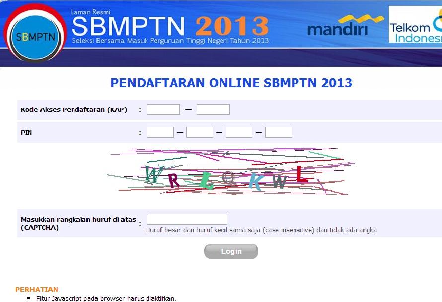untuk Tata cara daftar SBMPTN secara online di internet anda langsung ...