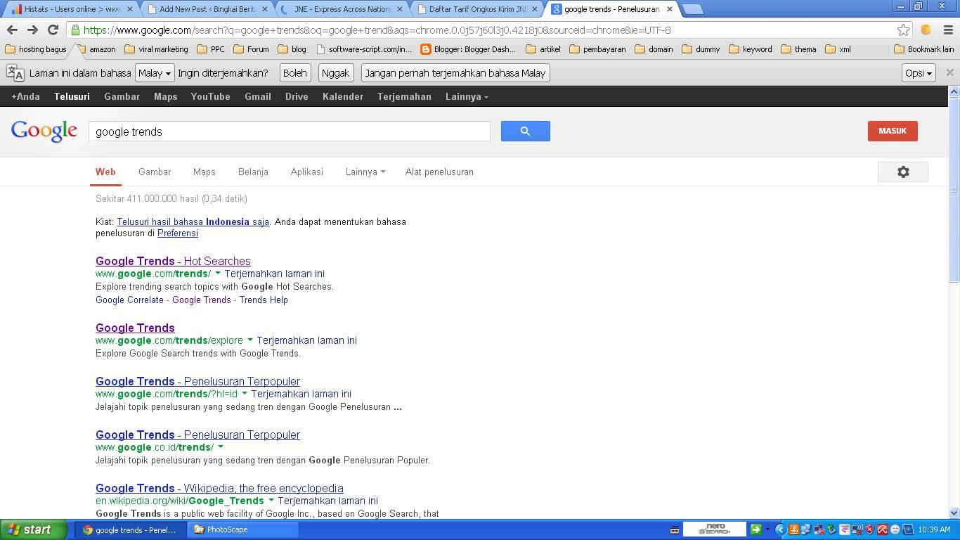 Temukan Cara Mencari Trend Di Google paling mudah