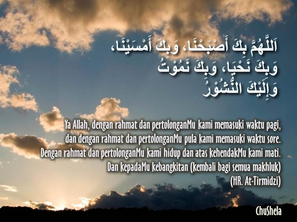 Kata Mutiara Doa Ketika Pagi Sore Hari Untuk Agama Islam