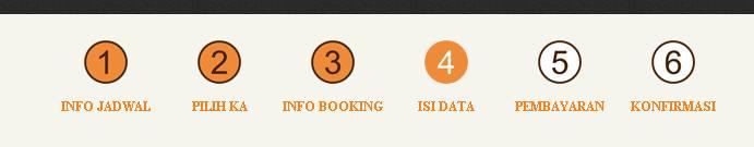 langkah-langkah booking kereta api