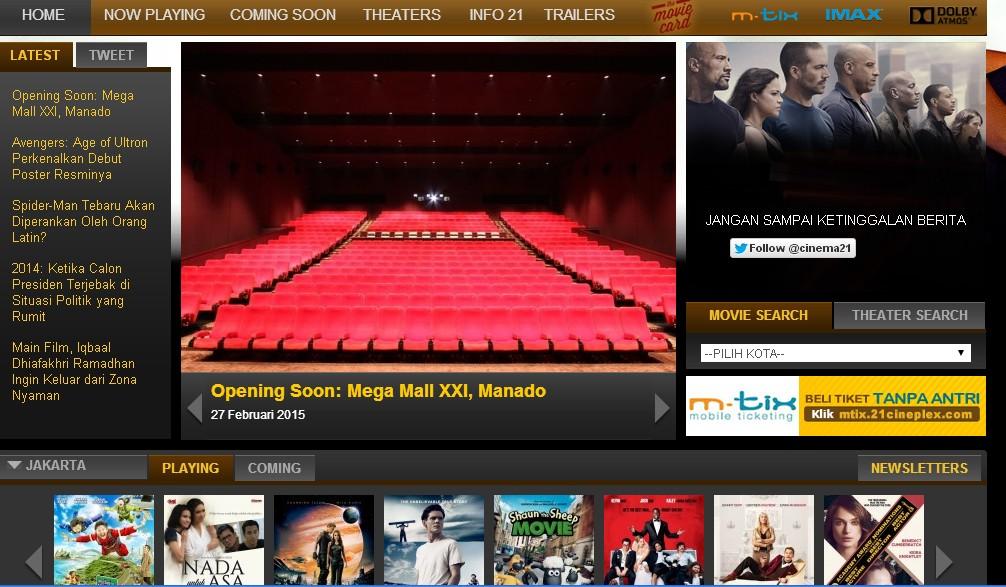 CINEMA 21 - Largest Indonesian Cinema Network - CINEMA 21