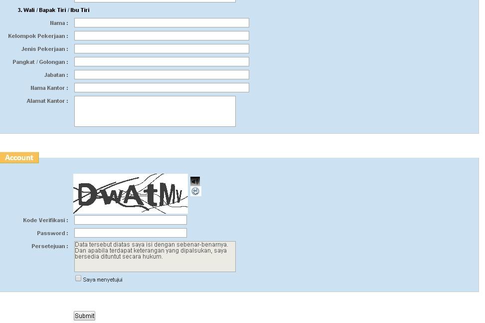 submit pendaftaran