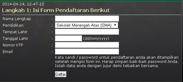 daftar online akmil