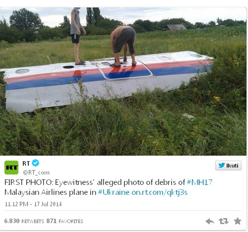 Foto-FOto Pesawat MH17 Malaysian Airlines