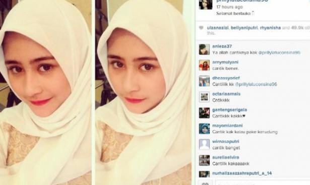 Prilly Latuconsina memakai hijab