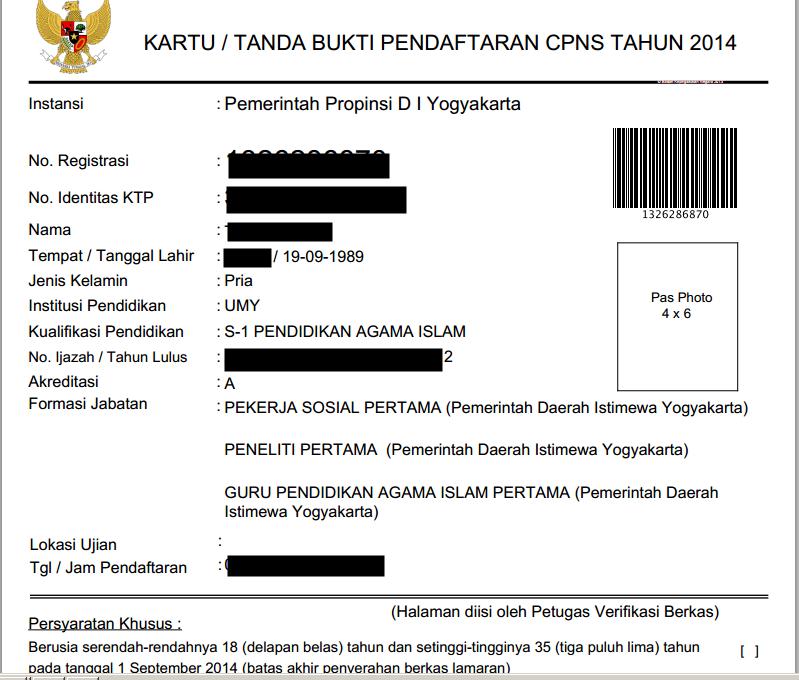 kartu tanda bukti pendaftaran