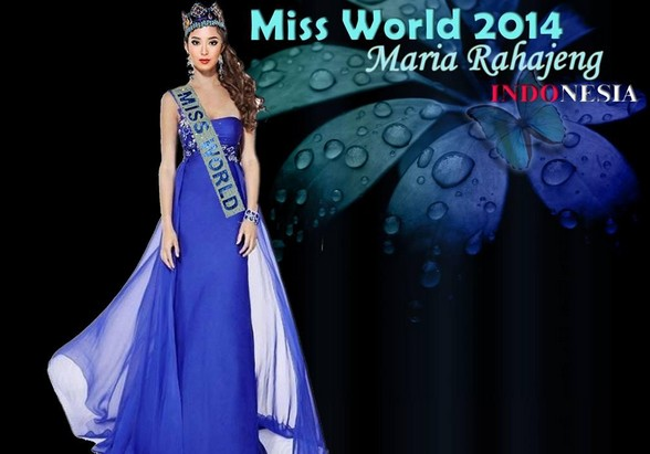 Miss World 2014 Maria Rahajeng Indonesia