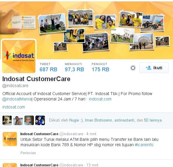 Akun Resmi Indosat