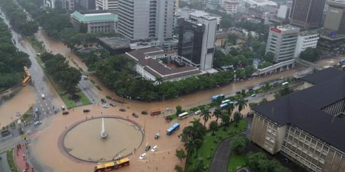 Ibukota Indonesia Pusat Banjir