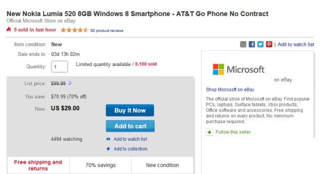 New Nokia Lumia 520
