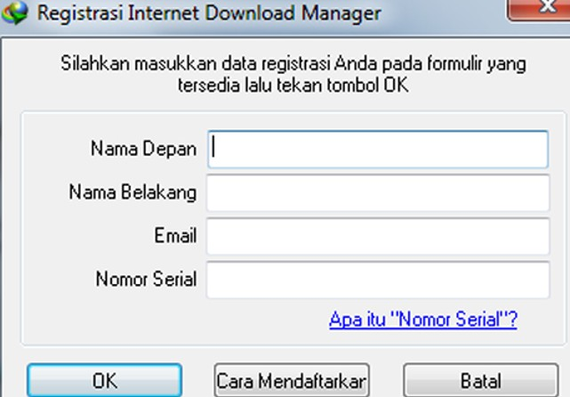 Registrasi IDM