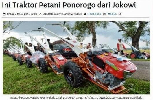 Traktor bantuan presiden