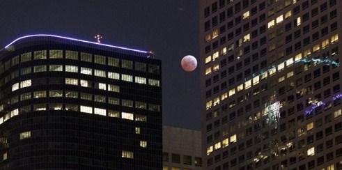 Gerhana bulan merah Amerika Serikat, LA