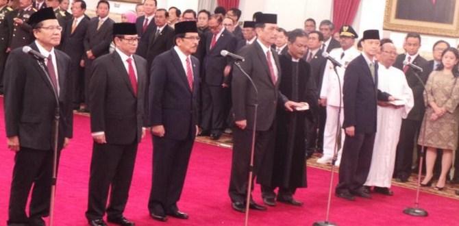 ressufle menteri Joko Widodo