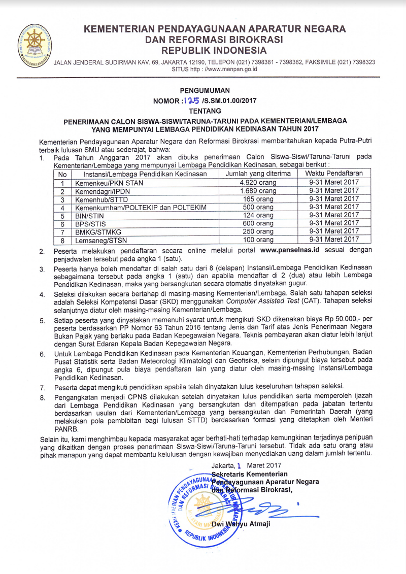 pendaftaran IPDN