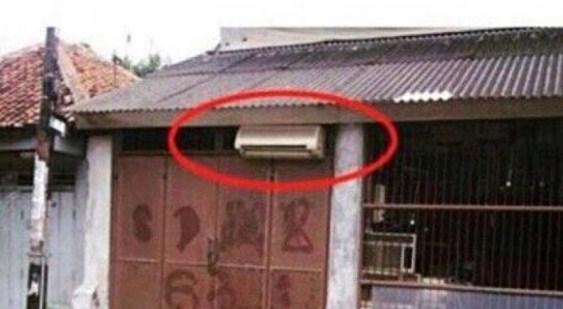 Pasang AC diluar ruangan