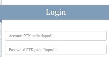 Cara Login Info GTK dengan Akun PTK dapodik
